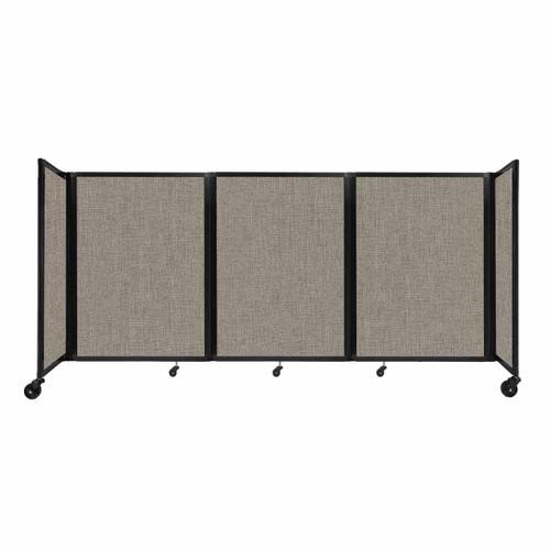 """Room Divider 360 Folding Portable Partition 8'6"""" x 4' Warm Pebble Fabric"""