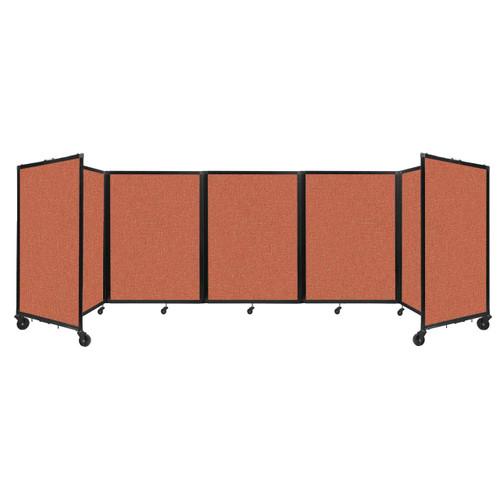 Room Divider 360 Folding Portable Partition 14' x 4' Papaya Fabric