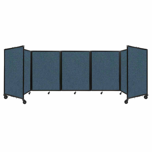 Room Divider 360 Folding Portable Partition 14' x 4' Caribbean Fabric