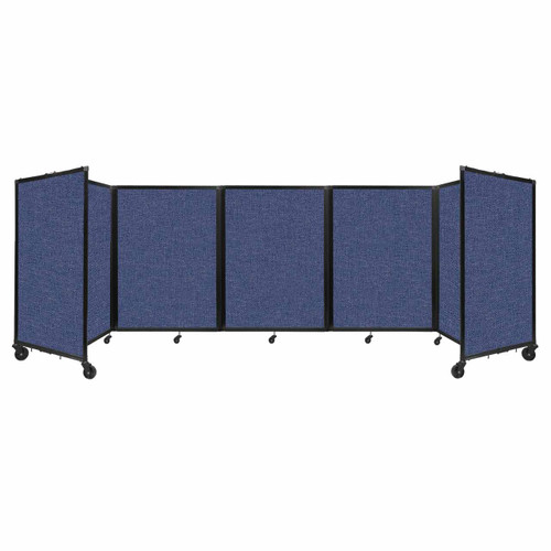 Room Divider 360 Folding Portable Partition 14' x 4' Cerulean Fabric