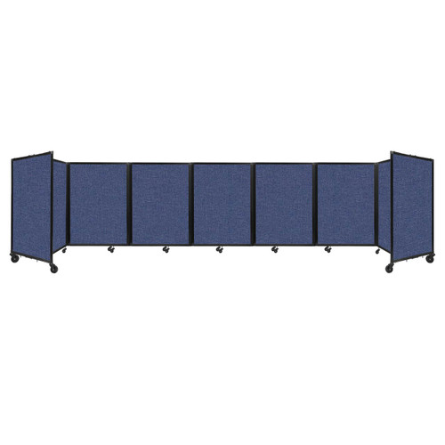 """Room Divider 360 Folding Portable Partition 19'6"""" x 4' Cerulean Fabric"""