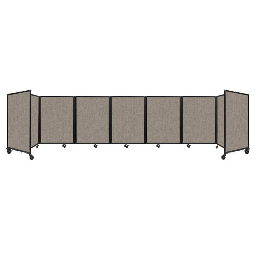 """Room Divider 360 Folding Portable Partition 19'6"""" x 4' Warm Pebble Fabric"""