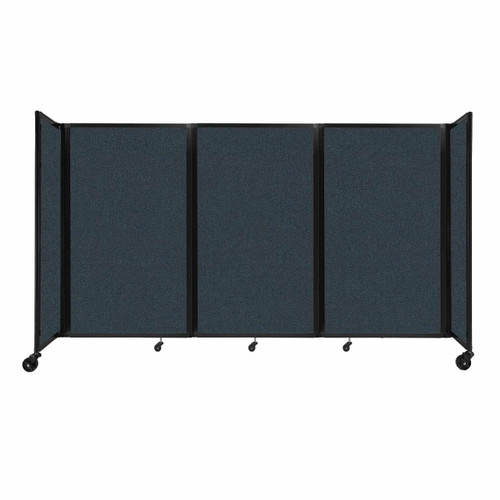 """Room Divider 360 Folding Portable Partition 8'6"""" x 5' Blue Spruce Fabric"""