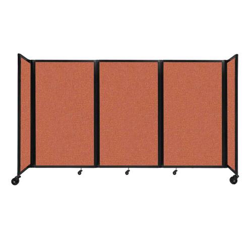 """Room Divider 360 Folding Portable Partition 8'6"""" x 5' Papaya Fabric"""