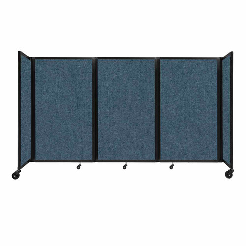 """Room Divider 360 Folding Portable Partition 8'6"""" x 5' Caribbean Fabric"""
