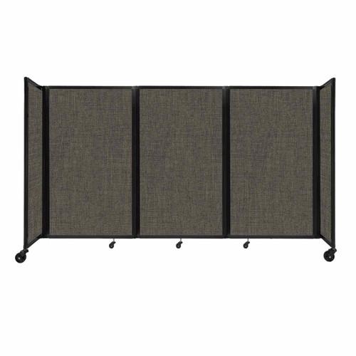 "Room Divider 360 Folding Portable Partition 8'6"" x 5' Mocha Fabric"