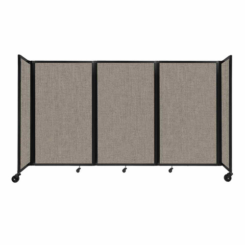 """Room Divider 360 Folding Portable Partition 8'6"""" x 5' Warm Pebble Fabric"""