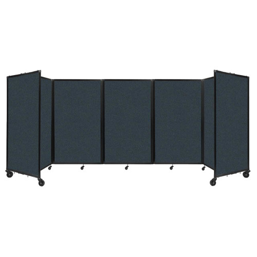 """Room Divider 360 Folding Portable Partition 14"""" x 5' Blue Spruce Fabric"""