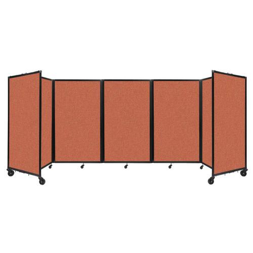"""Room Divider 360 Folding Portable Partition 14"""" x 5' Papaya Fabric"""