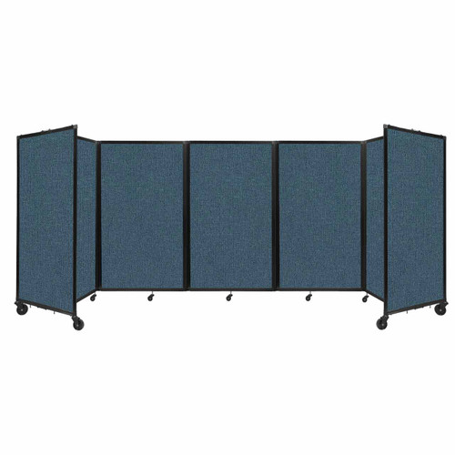 """Room Divider 360 Folding Portable Partition 14"""" x 5' Caribbean Fabric"""