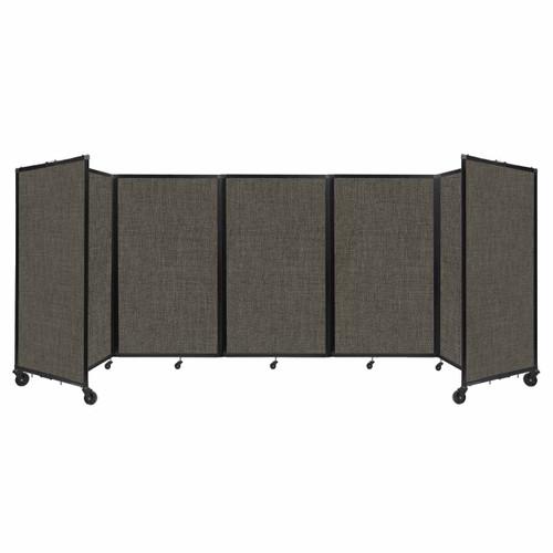 "Room Divider 360 Folding Portable Partition 14"" x 5' Mocha Fabric"