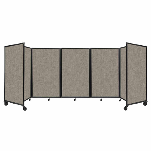 """Room Divider 360 Folding Portable Partition 14"""" x 5' Warm Pebble Fabric"""