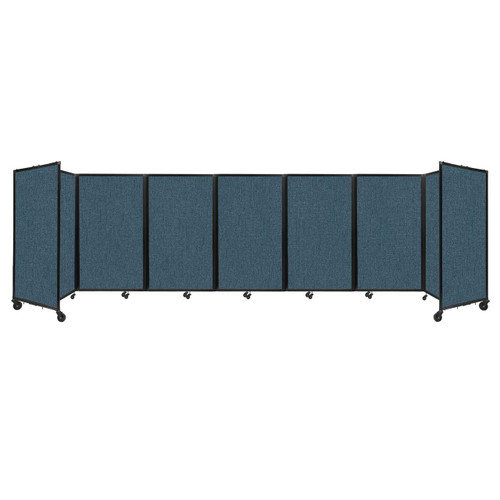 """Room Divider 360 Folding Portable Partition 19'6"""" x 5' Caribbean Fabric"""