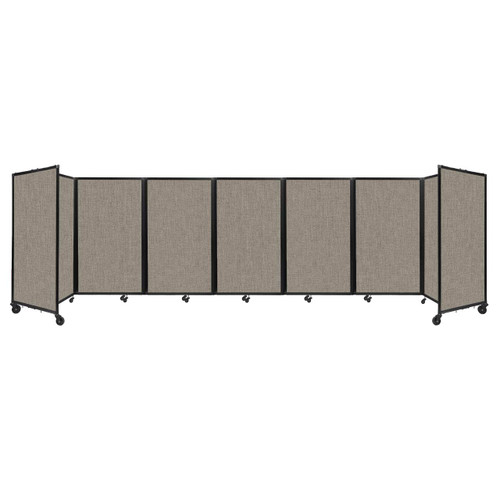 """Room Divider 360 Folding Portable Partition 19'6"""" x 5' Warm Pebble Fabric"""