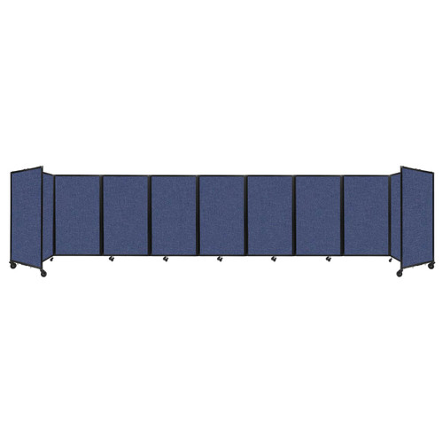 Room Divider 360 Folding Portable Partition 25' x 5' Cerulean Fabric