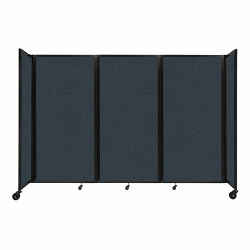 """Room Divider 360 Folding Portable Partition 8'6"""" x 6' Blue Spruce Fabric"""