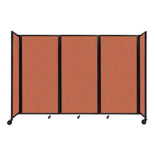 """Room Divider 360 Folding Portable Partition 8'6"""" x 6' Papaya Fabric"""