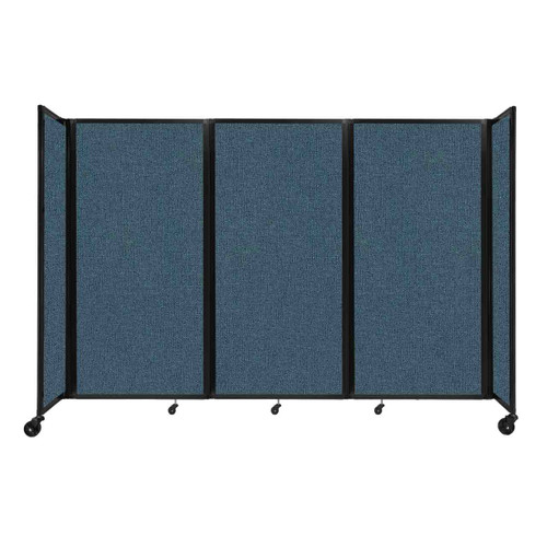 """Room Divider 360 Folding Portable Partition 8'6"""" x 6' Caribbean Fabric"""