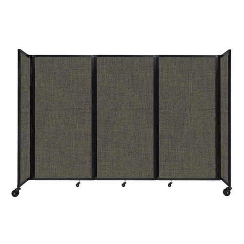 "Room Divider 360 Folding Portable Partition 8'6"" x 6' Mocha Fabric"