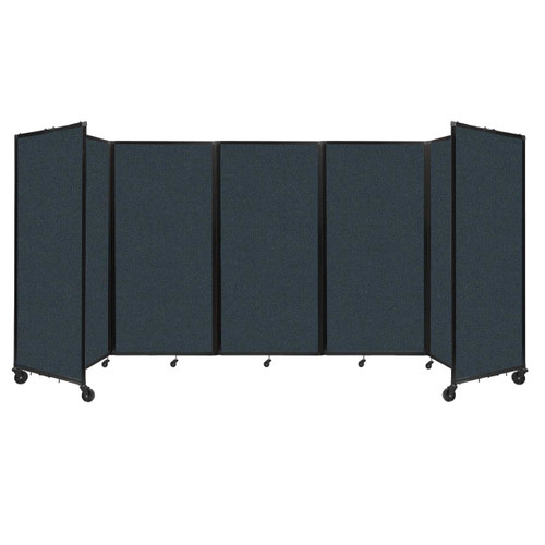 Room Divider 360 Folding Portable Partition 14' x 6' Blue Spruce Fabric