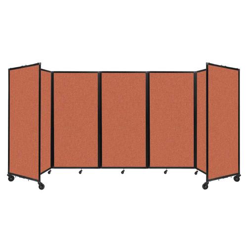 Room Divider 360 Folding Portable Partition 14' x 6' Papaya Fabric