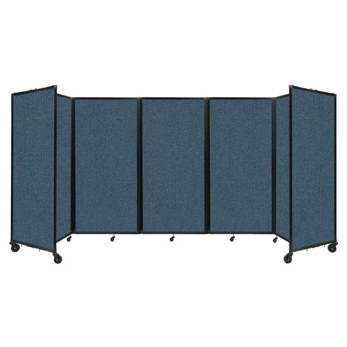 Room Divider 360 Folding Portable Partition 14' x 6' Caribbean Fabric