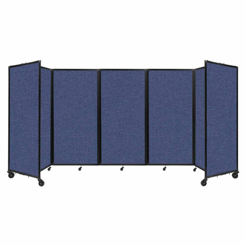 Room Divider 360 Folding Portable Partition 14' x 6' Cerulean Fabric