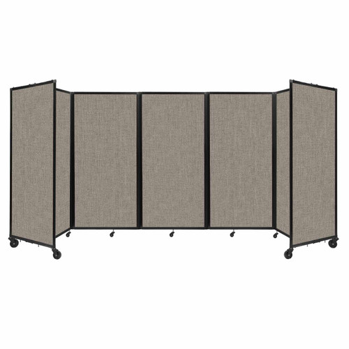 Room Divider 360 Folding Portable Partition 14' x 6' Warm Pebble Fabric