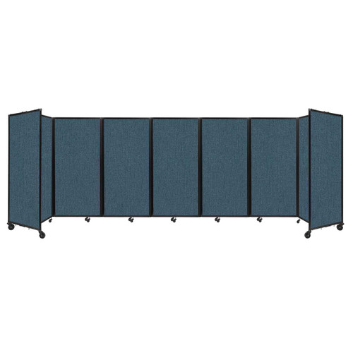 """Room Divider 360 Folding Portable Partition 19'6"""" x 6' Caribbean Fabric"""