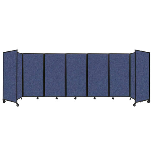 """Room Divider 360 Folding Portable Partition 19'6"""" x 6' Cerulean Fabric"""