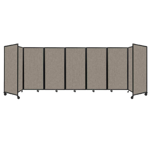 """Room Divider 360 Folding Portable Partition 19'6"""" x 6' Warm Pebble Fabric"""