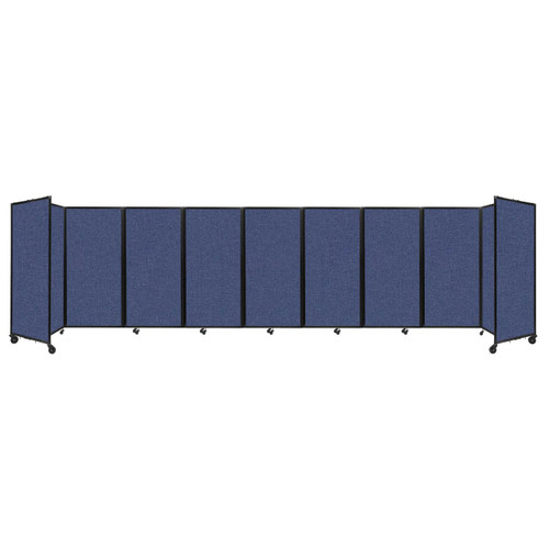 Room Divider 360 Folding Portable Partition 25' x 6' Cerulean Fabric