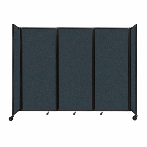 """Room Divider 360 Folding Portable Partition 8'6"""" x 6'10"""" Blue Spruce Fabric"""