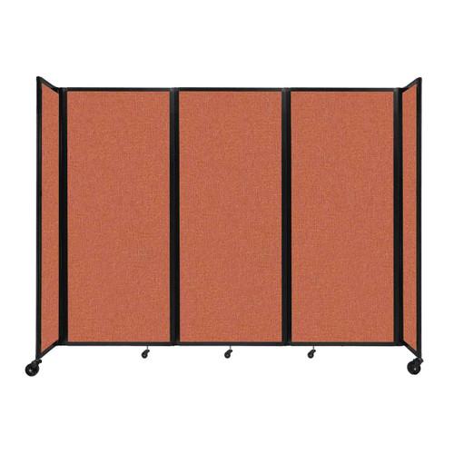 """Room Divider 360 Folding Portable Partition 8'6"""" x 6'10"""" Papaya Fabric"""