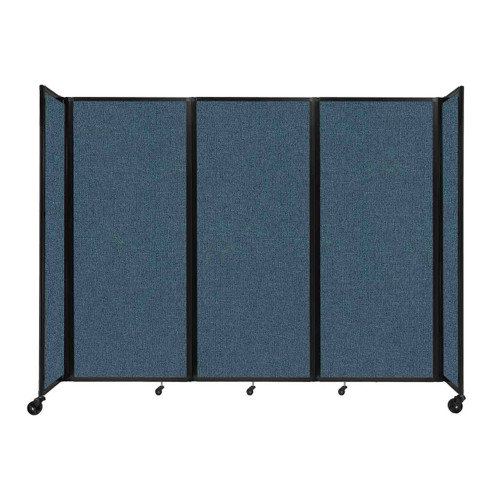 """Room Divider 360 Folding Portable Partition 8'6"""" x 6'10"""" Caribbean Fabric"""