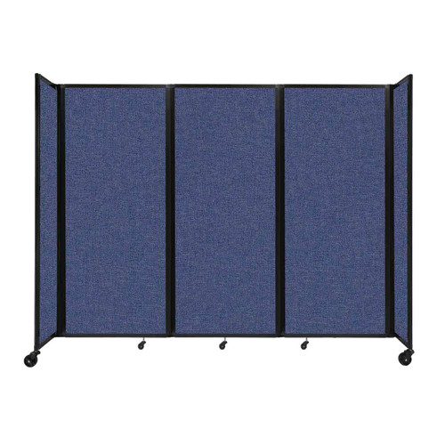 """Room Divider 360 Folding Portable Partition 8'6"""" x 6'10"""" Cerulean Fabric"""