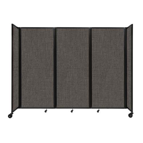 "Room Divider 360 Folding Portable Partition 8'6"" x 6'10"" Mocha Fabric"