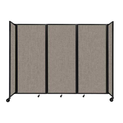 """Room Divider 360 Folding Portable Partition 8'6"""" x 6'10"""" Warm Pebble Fabric"""