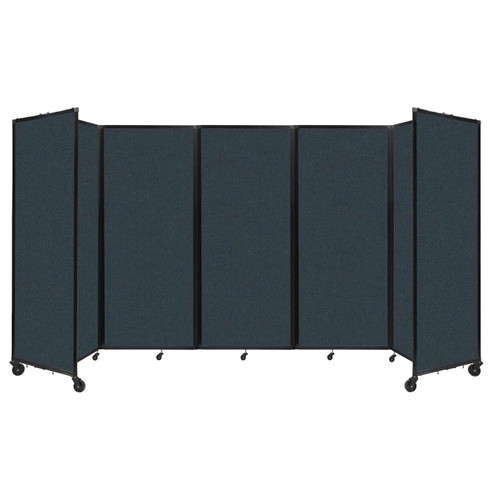 """Room Divider 360 Folding Portable Partition 14' x 6'10"""" Blue Spruce Fabric"""