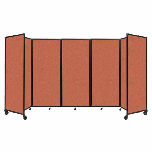 """Room Divider 360 Folding Portable Partition 14' x 6'10"""" Papaya Fabric"""