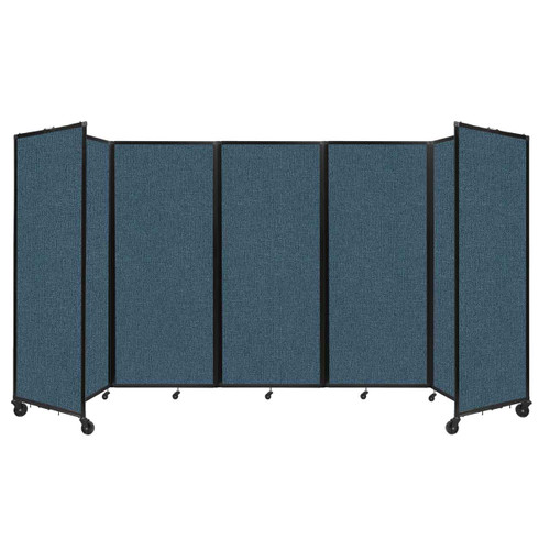 """Room Divider 360 Folding Portable Partition 14' x 6'10"""" Caribbean Fabric"""