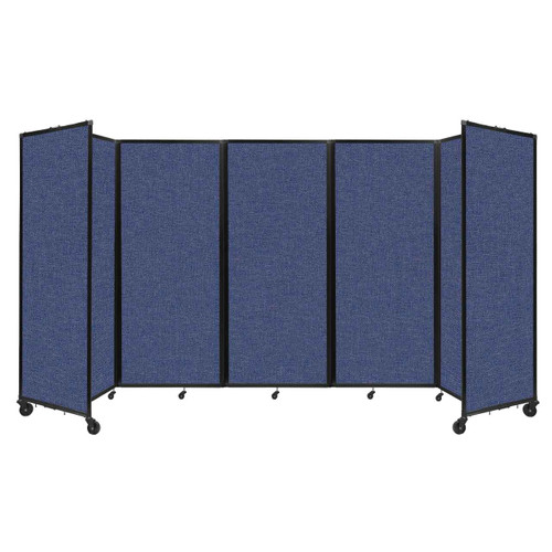 """Room Divider 360 Folding Portable Partition 14' x 6'10"""" Cerulean Fabric"""