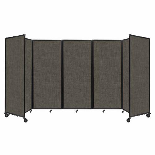 "Room Divider 360 Folding Portable Partition 14' x 6'10"" Mocha Fabric"