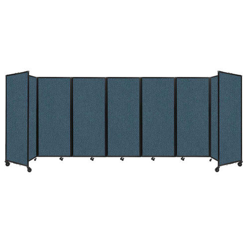 """Room Divider 360 Folding Portable Partition 19'6"""" x 6'10"""" Caribbean Fabric"""
