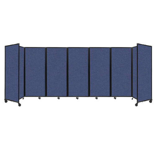 """Room Divider 360 Folding Portable Partition 19'6"""" x 6'10"""" Cerulean Fabric"""