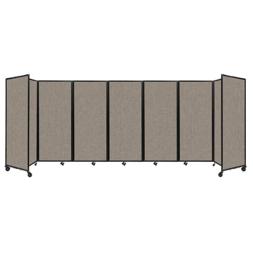 """Room Divider 360 Folding Portable Partition 19'6"""" x 6'10"""" Warm Pebble Fabric"""