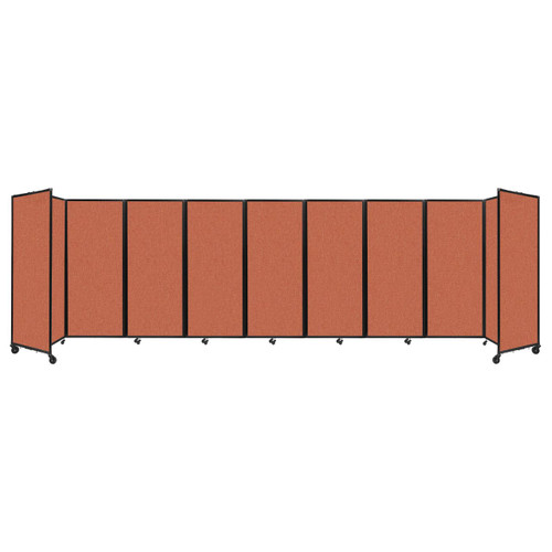 """Room Divider 360 Folding Portable Partition 25' x 6'10"""" Papaya Fabric"""