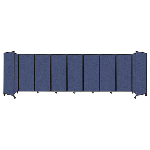 """Room Divider 360 Folding Portable Partition 25' x 6'10"""" Cerulean Fabric"""