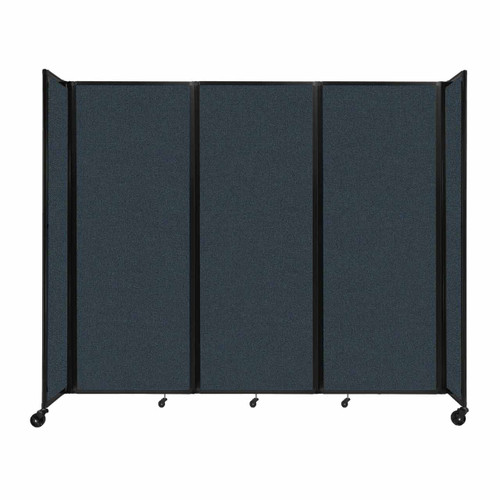 """Room Divider 360 Folding Portable Partition 8'6"""" x 7'6"""" Blue Spruce Fabric"""
