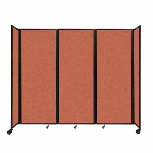 """Room Divider 360 Folding Portable Partition 8'6"""" x 7'6"""" Papaya Fabric"""